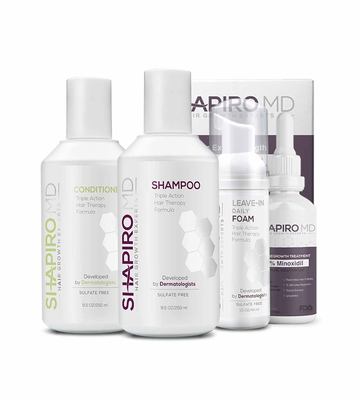 Shapiro Md Complete System Shampoo Conditioner Leave In Daily